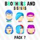 Brothers And Sisters - Pack 7 Clipart