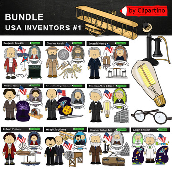 Brothers Wright clipart - inventors Clip Art