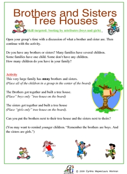 Brothers and Sisters Treehouse: Sorting Boys and Girls
