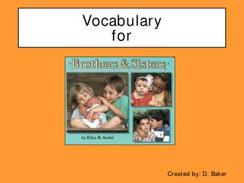 Brothers and Sisters Vocabulary Houghton Mifflin Series