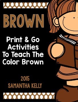 The Color Brown Printables