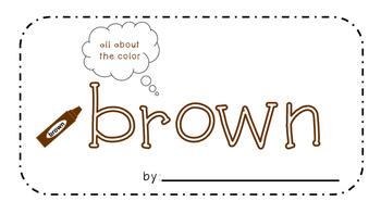Brown Activity Book!