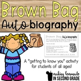 Brown Bag Biography {FREEBIE!} - A Getting to Know You Activity for Grades K-6