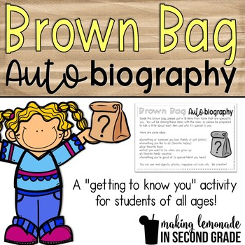 Brown Bag Autobiography {FREEBIE!} - A Getting to Know You Activity!