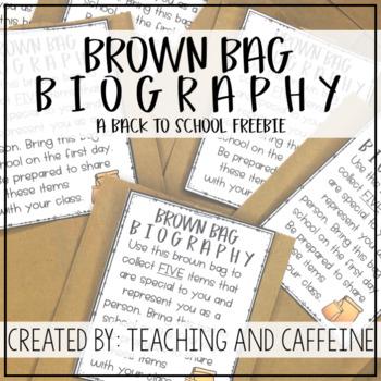 Brown Bag Biography FREEBIE