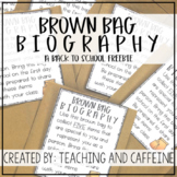 Brown Bag Biography FREEBIE