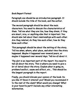 Brown Bag Book Report and Rubric