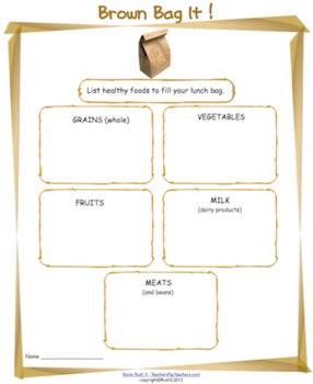 Brown Bag It! Healthy Foods
