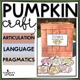 Brown Bag Pumpkins: Language and Articulation Craftivity