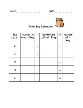 Brown Bag Subtraction