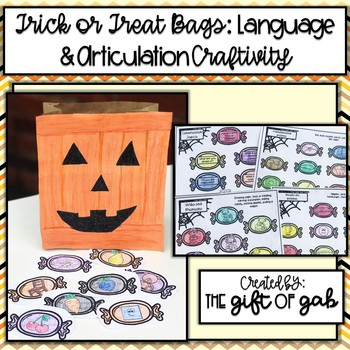 Brown Bag Trick or Treat Bag: Language and Articulation Craftivity