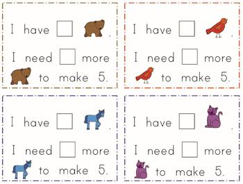 Brown Bear 5 and 10 Frames with Math Talk