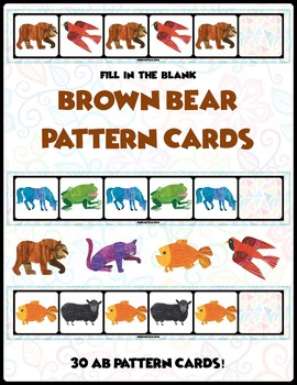 Brown Bear AB Pattern Cards | 30 Cards