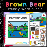 Brown Bear Adapted Book and Weekly Work Bundle
