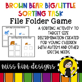 Brown Bear Big / Little Sorting Task for Early Childhood Special Education