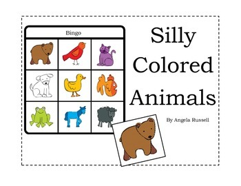 Silly Colored Animals ~ Bingo Game