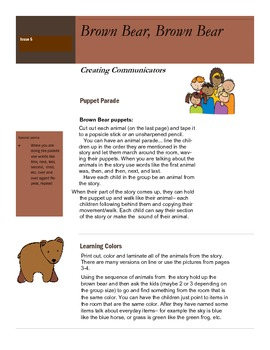 Brown Bear Book activity