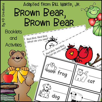 Brown Bear, Brown Bear for Kindergarten * Booklets * Counting * Color Words
