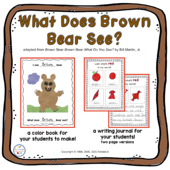 Brown Bear Book of Colors - a color identification book and journal