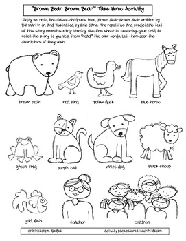 Brown bear brown bear a take home activity by for Brown bear what do you see coloring pages