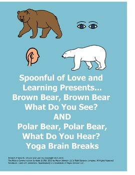 Brown Bear, Brown Bear AND Polar Bear, Polar Bear Yoga Brain Breaks Double Pack