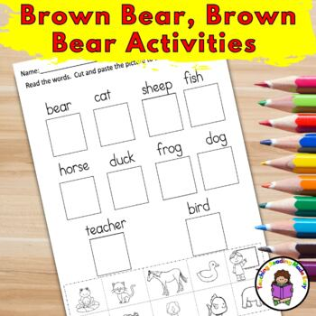 Activities for Kindergarten/Preschool for Brown Bear Brown Bear