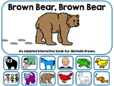 Brown Bear, Brown Bear Adapted Interactive Book--SPED, Autism