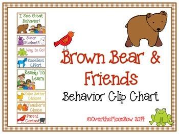 Brown Bear & Friends Behavior Clip Chart