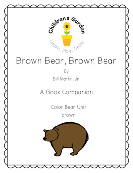 Brown Bear, Brown Bear Book Companion (Color Unit Brown)