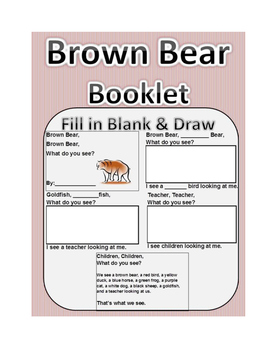 Brown Bear Brown Bear Book: Draw and Colors