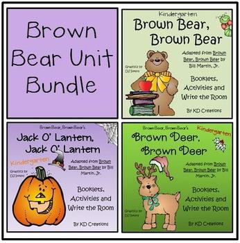 Brown Bear , Brown Bear Bundle of 3 for Fall
