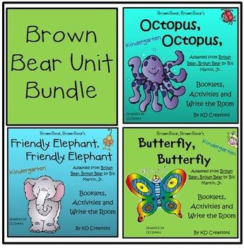 Brown Bear , Brown Bear Bundle of 3 for Spring