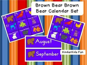 Brown Bear Brown Bear Calendar Set
