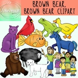 Brown Bear Brown Bear Clipart - Color and Black and White