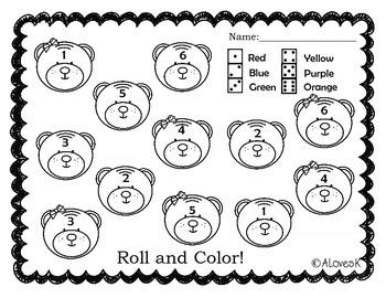 Brown Bear Brown Bear Color Word Practice Packet