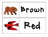 Brown Bear Brown Bear - Color Words - Word Wall Printable