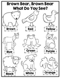 Brown Bear Brown Bear Coloring Activity