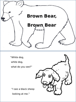 Brown Bear Brown Bear Coloring Book Teaching Resources | Teachers ...