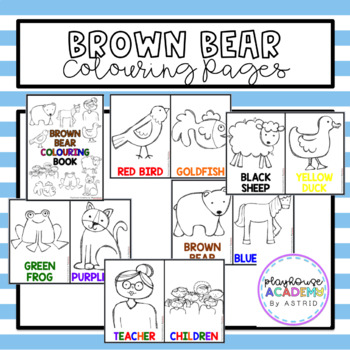 Brown Bear Brown Bear Coloring Colouring Pages By Playhouse Academy