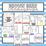 Brown Bear Brown Bear Coloring / Colouring Pages