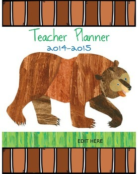 Brown Bear Brown Bear EDITABLE Planner
