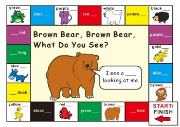Brown Bear, Brown Bear Match Game - Mamas Learning Corner