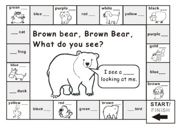 Color Game for Brown Bear, Brown Bear, What Do You See ...