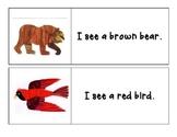 Brown Bear Brown Bear - I see... Pocket Chart Printable