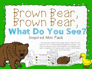 Brown Bear, Brown Bear Inspired Mini Pack