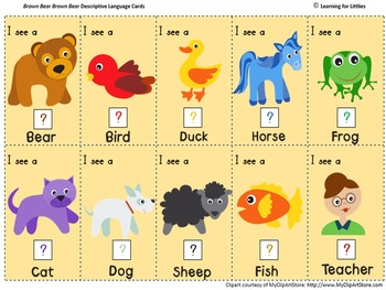 Brown Bear Brown Bear Language Activity Cards