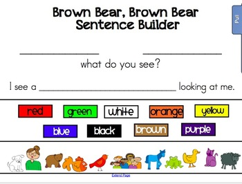 Brown Bear Brown Bear Literacy and Color Activities for the Smartboard