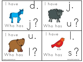 Brown Bear Brown Bear Lower Case Letter I have Who Has Game
