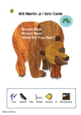 Brown Bear Brown Bear - Match initial sound to story picture - TEACCH task