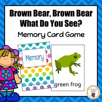 Brown Bear Brown Bear Memory Card Game
